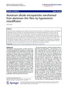 Aluminum silicide microparticles transformed from aluminum thin films ...