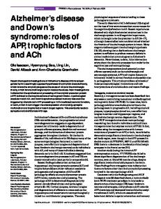 Alzheimer's disease and Down's syndrome: roles of APP ... - Cell Press