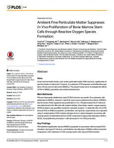 Ambient Fine Particulate Matter Suppresses In ... - Semantic Scholar