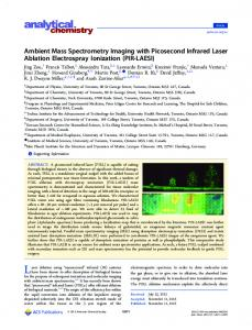 Ambient Mass Spectrometry Imaging with ... - ACS Publications