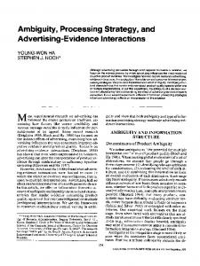 Ambiguity, Processing Strategy, and Advertising-Evidence Interactions