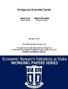 Ambiguous Business Cycles - SSRN papers