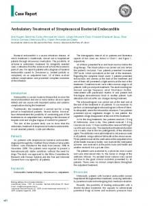 Ambulatory treatment of streptococcal bacterial endocarditis