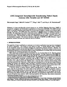 AMC-Integrated Reconfigurable Beamforming Folded Dipole Antenna ...