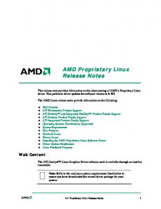 AMD Proprietary Linux Release Notes