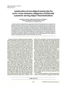 Amelioration of axis-aligned motion bias for active ... - Semantic Scholar