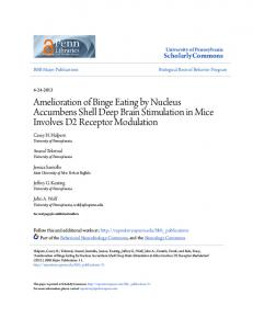 Amelioration of Binge Eating by Nucleus ... - Semantic Scholar
