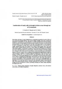 Amelioration of sandy soils in drought stricken areas through use of ...
