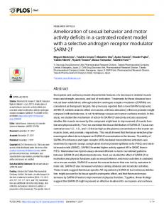 Amelioration of sexual behavior and motor activity ... - Semantic Scholar