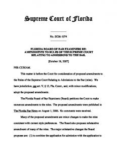 amendments - Florida Supreme Court