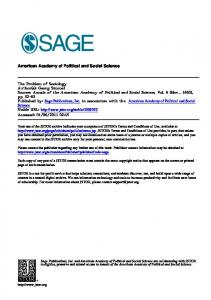 American Academy of Political and Social Science