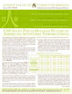 AMERICAN ATTITUDES TOWARD CHINA