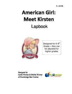 American Girl: Meet Kirsten - Rainbow Resource Center