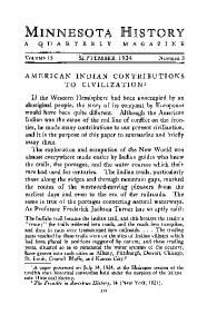 American Indian contributions to civilization. - Collections
