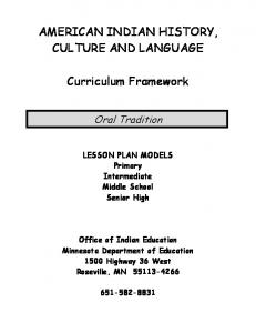 American Indian Oral Traditions Curriculum