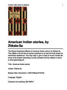 American Indian stories - University of Macau Library