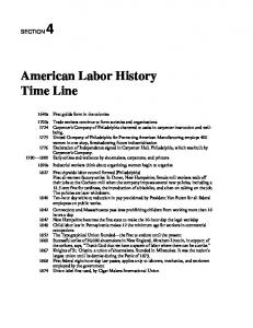 American Labor History Time Line - Wisconsin Labor History Society