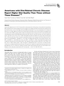 Americans with Diet-Related Chronic Diseases ... - Journal of Nutrition