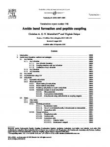 Amide bond formation and peptide coupling
