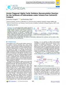 Amine-Triggered Highly Facile Oxidative ... - ACS Publications