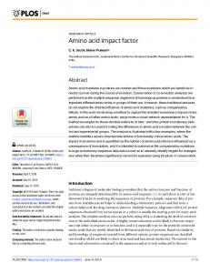 Amino acid impact factor - PLOS