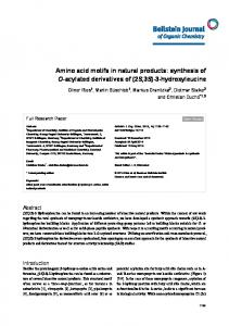 Amino acid motifs in natural products - Beilstein Journal of Organic ...