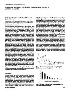 Amino acid neighbours and detailed conformational analysis of ...