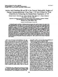 Amino Acid Residues 88 and 89 in the Central ... - Journal of Virology