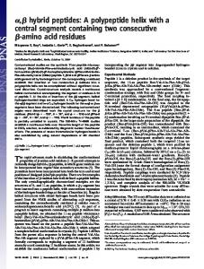 amino acid residues - Proceedings of the National Academy of Sciences