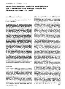Amino acid substitutions within the matrix protein of ... - Europe PMC