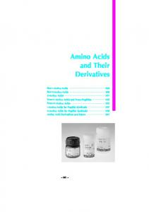 Amino Acids and Their Derivatives
