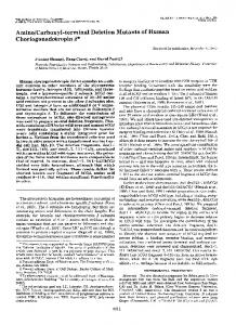 Amino/Carboxyl-terminal Deletion Mutants of Human ...