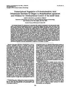Aminolevulinic Acid Dehydratase Synthesis by Oxygen in ...