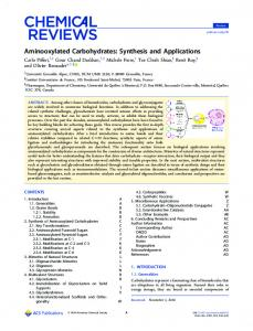 Aminooxylated Carbohydrates: Synthesis and ... - ACS Publications