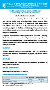 AML KYC - Indian Institute of Banking & Finance