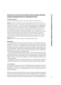 Ammonium removal from primary and secondary ...