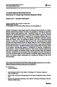 Amoeba-Inspired Heuristic Search Dynamics for ... - Springer Link
