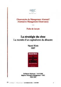 AMO_La strategie du choc - HEC Paris