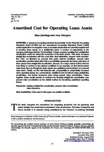 Amortized Cost for Operating Lease Assets - American Accounting ...