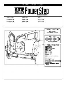AMP Research Running Boards Installation Instructions