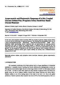 Amperometric and Photometric Responses of in Situ Coupled Glucose ...