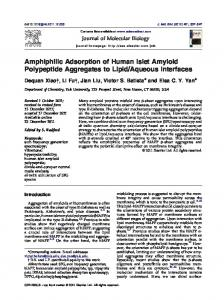 Amphiphilic Adsorption of Human Islet Amyloid Polypeptide ...