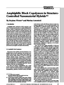Amphiphilic Block Copolymers in Structure- Controlled ... - kocw