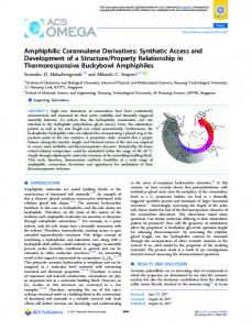 Amphiphilic Corannulene Derivatives: Synthetic ... - ACS Publications