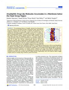 Amphiphilic Drug-Like Molecules Accumulate in a ... - ACS Publications