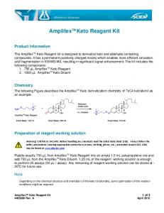 AmplifexTM Keto Reagent Kit - AB Sciex