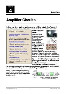 Amplifier Circuits - Learn About Electronics