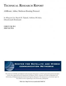 AMRoute: Adhoc Multicast Routing Protocol