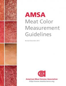 AMSA Meat Color Measurement Guidelines - American Meat Science ...