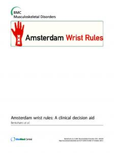 Amsterdam wrist rules: A clinical decision aid